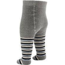 Baby Butt Thermo-Strumpfhose grau/blau Größe 74 / 80