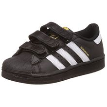 adidas Originals Superstar Foundation CF C B26071, Unisex-Kinder Low-Top Sneaker, Schwarz (Core Black/FTWR White/Core Black), EU 30