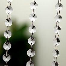 10er 1M Luxus Kristall Ketten Türvorhang Raumteiler Perlenvorhang Hochzeit Party Wohnung Shop Deko