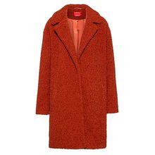 Relaxed-Fit Mantel aus Teddy mit Druckknöpfen