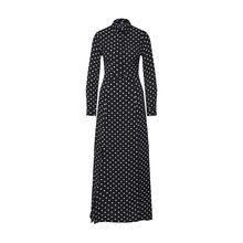 Missguided Blusenkleid Polka Dot Front Split Long Sleeve Maxi Dress Black Blusenkleider weiß Damen