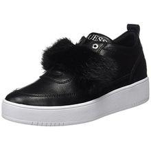 Guess Damen Flo Sneakers, Schwarz (Nero), 40 EU