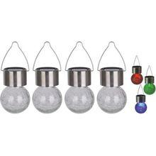 Näve 4er-Set LED-Außen-Pendelleuchte mehrfarbig