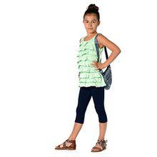 Kinder 3/4 Leggings in 22 Farben Baumwolle, Gr. 92 bis 158 cm, p701 110 Dunkelblau