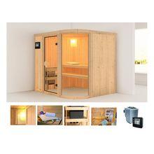 KARIBU Sauna »Parima 2«, 196x151x198 cm, 9 kW Bio-Ofen mit ext. Steuerung