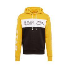 G-STAR RAW Sweatshirts 'Swando' beige / schwarz / weiß