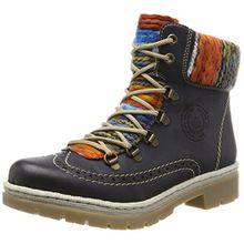 Rieker Damen Y9431 Stiefel, Blau (Ozean/Orange-Multi), 40 EU