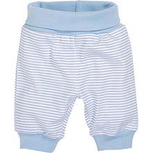 Schnizler Baby - Jungen Hose Babyhose, Jogginghose Ringel mit elastischem Bauchumschlag, Oeko - Tex Standard 100, Gr. 56, Blau (weiß/bleu 117)