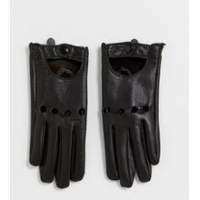 My Accessories – London – Exklusive Touchscreen-Handschuhe aus schokoladenbraunem Lederimitat