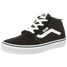 Vans Unisex-Kinder Chapman Mid Sneaker, Schwarz (Suede/Canvas), 34 EU