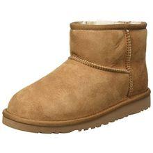 UGG Unisex-Kinder Mini Classic Kurzschaft Stiefel, Braun (Chestnut), 33 EU