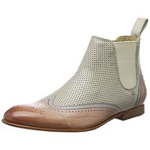 Melvin & Hamilton Damen Sally 19 Chelsea Boots, Mehrfarbig (Salerno/Salerno/Salerno Perfo Pale Rose(1,6), Morning Grey(2,5)/Sand(3,4) Ela Off White LS Nat.), 38 EU