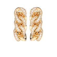 Vergoldete Ohrringe mit Zirkonen