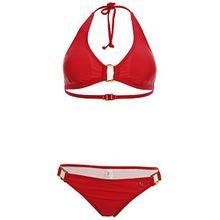 s Oliver Triangelbikini Bikini Neckholder Lycra Cup A, Farbe:rot;Damengrößen:34;Cup:A