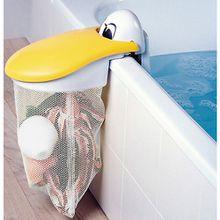 Spielzeug-Badewannennetz Pelikan weiß