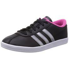 adidas Damen Vlcourt W Sneakers, Schwarz (001 Black), 39 1/3