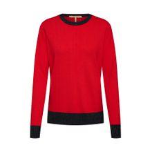 SCOTCH & SODA Pullover rot / schwarz