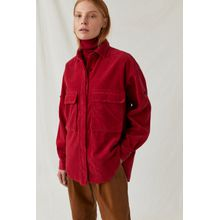 CLOSED Overshirt aus Cord ruby