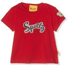 Steiff Baby-Mädchen T-Shirt 1/4 Arm, Rot (Tango Red 2016), 62 (Herstellergröße:62)