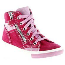 Richter Kinder Halbschuhe Sneaker pink Velourleder Mädchen-Schuhe 3148-141-3501 fuchsia Fedora, Farbe:pink, Größe:28