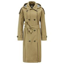 Relaxed-Fit Trenchcoat aus Baumwolle mit abnehmbarer Kapuze