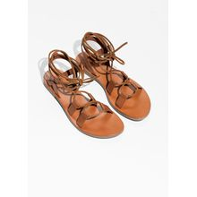 Strappy Gladiator Sandals - Brown