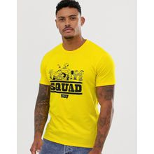 Levi's - Peanuts Squad - Gelbes T-Shirt mit Aufdruck - Gelb