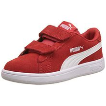 Puma Unisex-Kinder Smash V2 SD V PS Sneaker, Rot (High Risk Red White 3), 30 EU