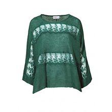 Oversized Pullover Damen von sheego in Grün - Gr. 48/50