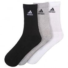 adidas - 3S  Performance Crew Half Cushioned 3PP - Multifunktionssocken Gr 31-34;35-38;39-42;43-46;47-50;51-54 schwarz/grau/weiß;schwarz