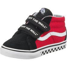 Baby Sneakers High TD SK8-Mid Reissue V  schwarz/rot Jungen Kleinkinder
