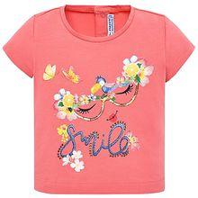 Baby T-Shirt  koralle Mädchen Baby