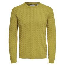Only & Sons Pullover zitronengelb