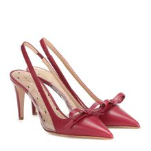 RED (V) Slingback-Pumps aus Leder