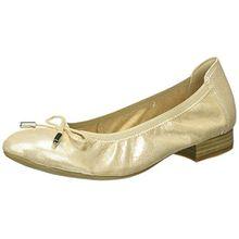Caprice Damen 22166 Geschlossene Ballerinas, Beige (Beige Glitter), 39 EU