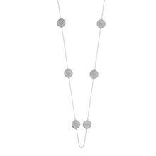 Halskette Disc HEART, lang, Silber