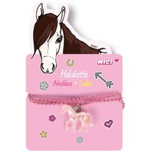 Kette mit Pferdeanhänger im Display [60cm] pink Mädchen Kinder