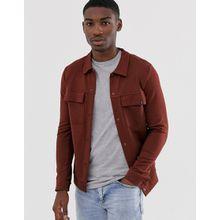 Jack & Jones Premium - Sweatshirtjacke mit aufgesetzter Tasche in Rot - Rot
