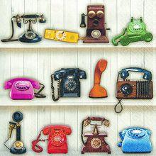 20 Servietten Give us a Ring – Telefone / Retro / Vintage 33x33cm