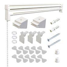 Raffrollo Technik Raffvorhangtechnik ohne Stoff | Technik für Raffrollos zum selbst dekorieren | weiss | Breite 80 cm