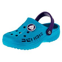 2 Surf Kinder Clogs Badeschuhe Sandalen für Jungen und Mädchen in Vielen Farben M211tüli Türkis Lila 32