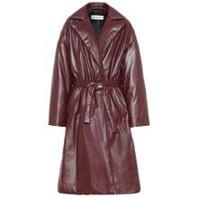 Gefütterter Mantel aus Leder
