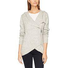 Bench Damen Strickjacke Asymmetric Zip Jacket, Grau (Winter Grey Marl Ma1054), X-Small