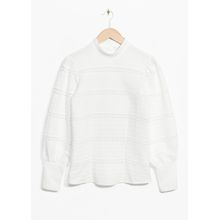 Buttoned Back Blouse - White