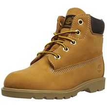 Timberland 6 in Classic Boot FTC_6 in Classic Boot, Unisex-Kinder Halbschaft Stiefel, Braun (Wheat Yellow), 35.5 EU