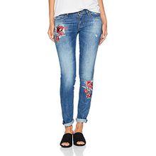 Guess Damen Slim Jeans Starlet, Mehrfarbig (Kale Embroidery), 44 (Herstellergröße: 31)
