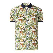 Poloshirt aus Baumwolle mit Allover-Muster