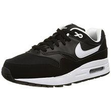 Nike Unisex-Kinder Air Max 1 (GS) Sneakers, Schwarz (001 Black), 37.5