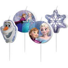 Amscan Figurenkerzen Die Eiskönigin, 4 Stück lila