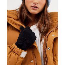 SVNX – Schwarze Handschuhe mit Schleife